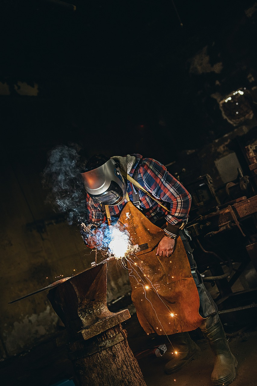 welding, welder, sparks